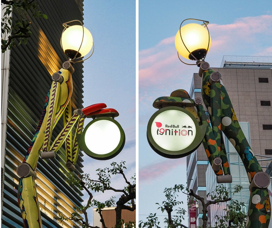 Stick figure street lights
