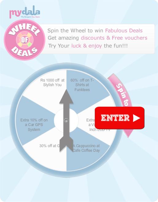 Mydala : Spin the wheel & Win Free Deals (India)   Free Stuff