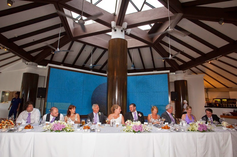 main long table facing the guests