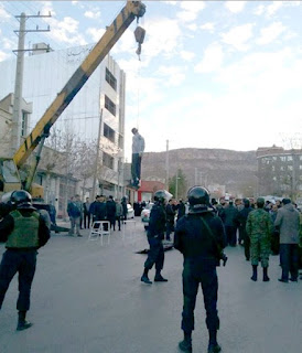 Public hanging in Ilam, Iran, on December 22, 2016