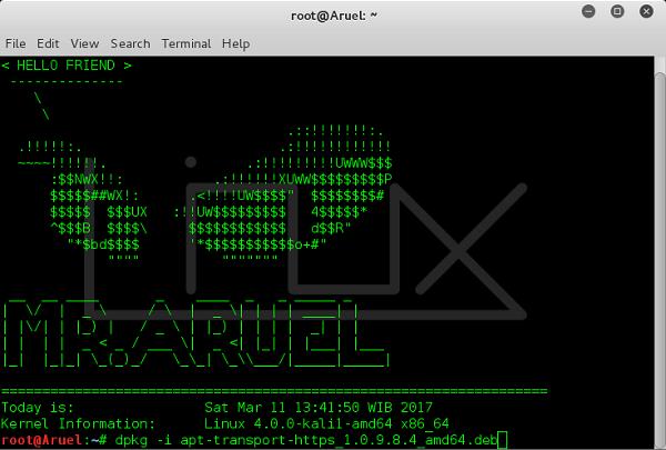 Install Paket apt-transport-https di Kali Linux