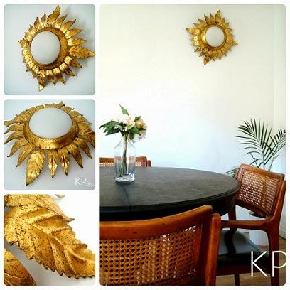 Muebles vintage online. Lámparas, apliques dorados y objetos de época. Tiendas en valencia.