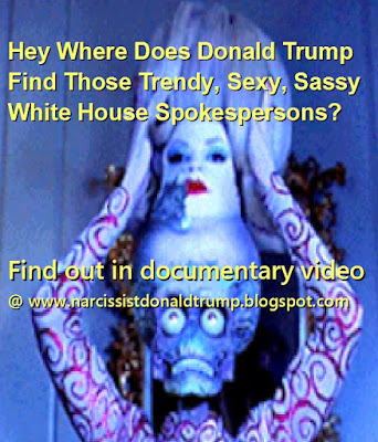 funny meme donald trump kellyanne conway and huckabee sanders are whitehouse spokespersons but also sexy trendy martians from mars attacks see video