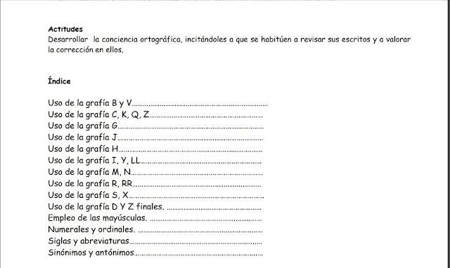 ortograficas,primaria,secundaria,escribir,reglas