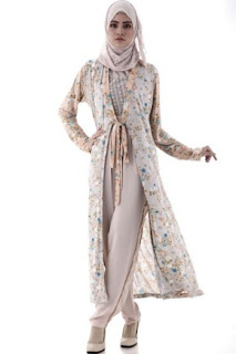 22 Contoh Model Baju Gamis Dan Blazer Muslim Bahan Sifon