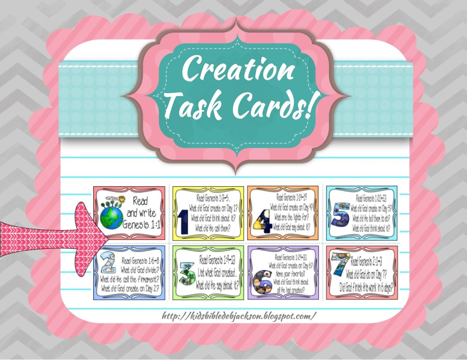 Bible Fun For Kids Using Task Cards In A Bible Class