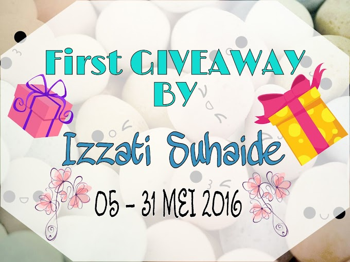 First Giveaway By Izzati Suhaide