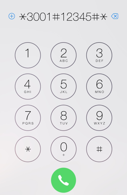 Apple iPhone, accedere al menu Field Test