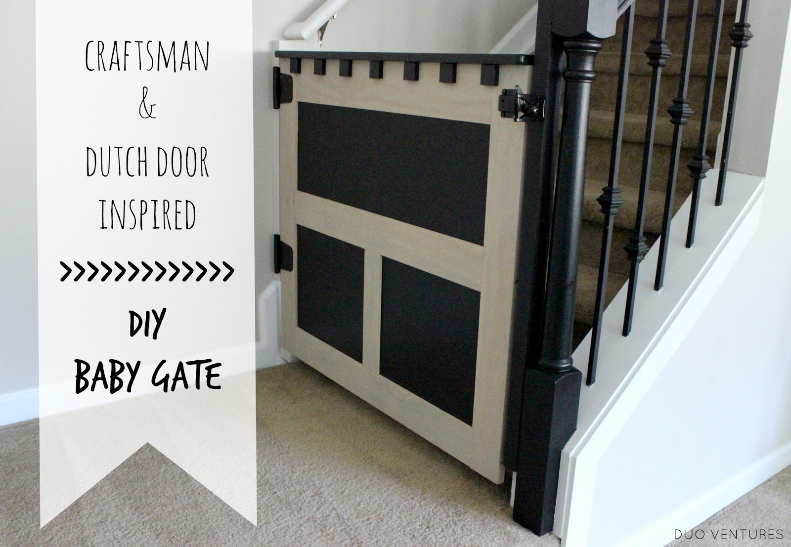 Duo Ventures Craftsman Dutch Door Inspired Diy Baby Gate