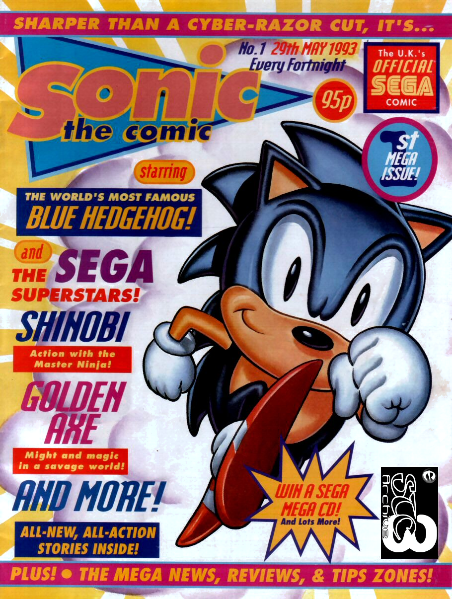 Af Blog A Long Look At Sonic The Comic 1 100 Part 1 Hey Boomers