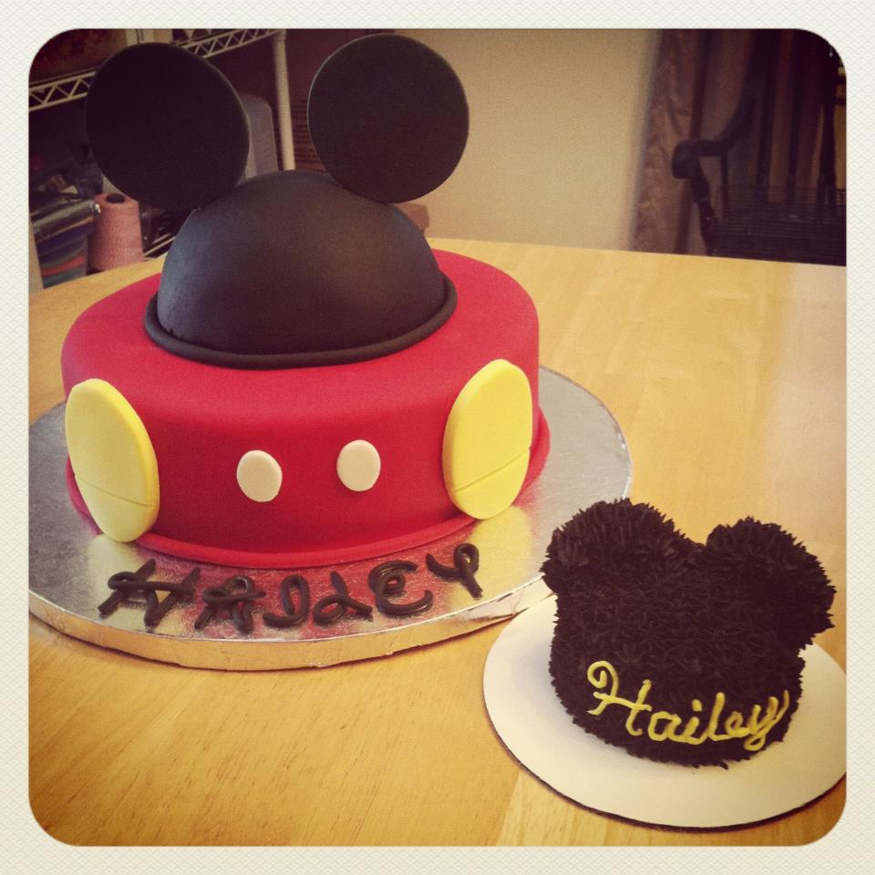 Mickey Mouse Smash Cake: Cakes By Becky: November 2012