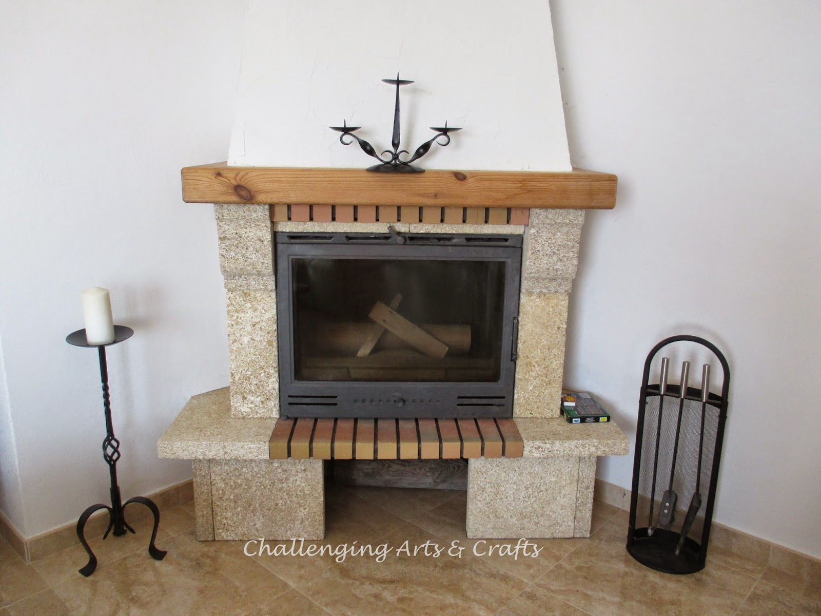 Challenging Arts & Crafts: nothing but a spanish fireplace ...