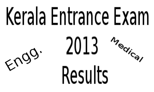 Kerala Entrance Exam 2013 results will declare before May