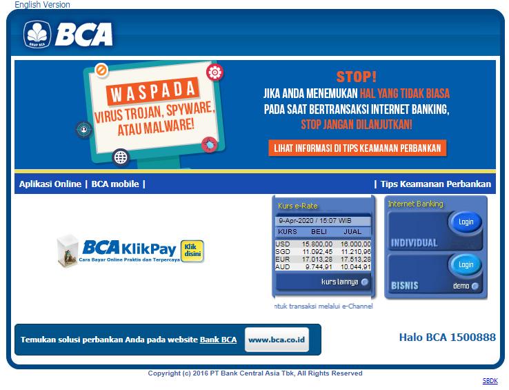Cek Tagihan Kartu Kredit BCA via klikbca