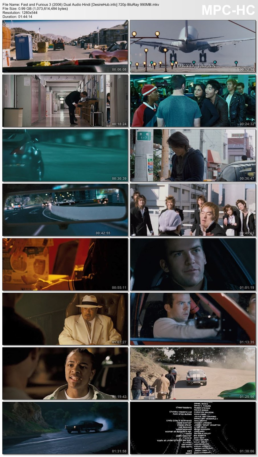 Fast and Furious 3 : Tokyo Drift 2006 Dual Audio Hindi 720p BluRay 990MB Desirehub