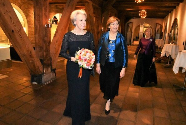 Princess Benedikte of Denmark attended the 40th anniversary dinner for the International Women's Club
