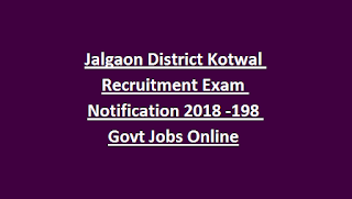 Jalgaon District Kotwal Recruitment Exam Notification 2018 -198 Govt Jobs Online