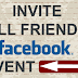 How to Select All Friends On Facebook event