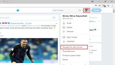 Pengaturan dan privasi pada twitter