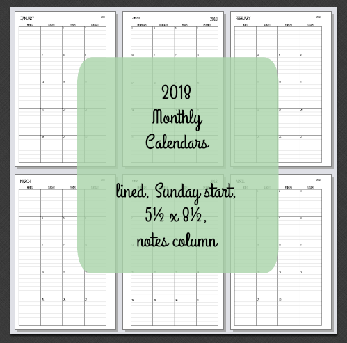 planner fun free 2018 month on 2 pages calendar