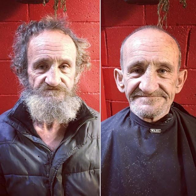 Barbero australiano regala un día para ayudar en las calles
