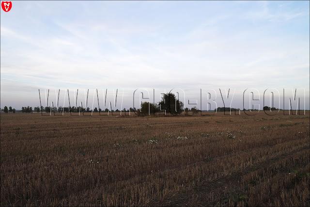 ДОТ. На фоне - Кудиновичи и кладбище с часовней
