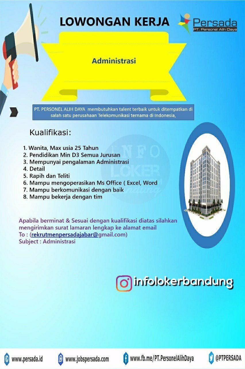 Lowongan Kerja PT. Personil Alih Daya Bandung September 2018