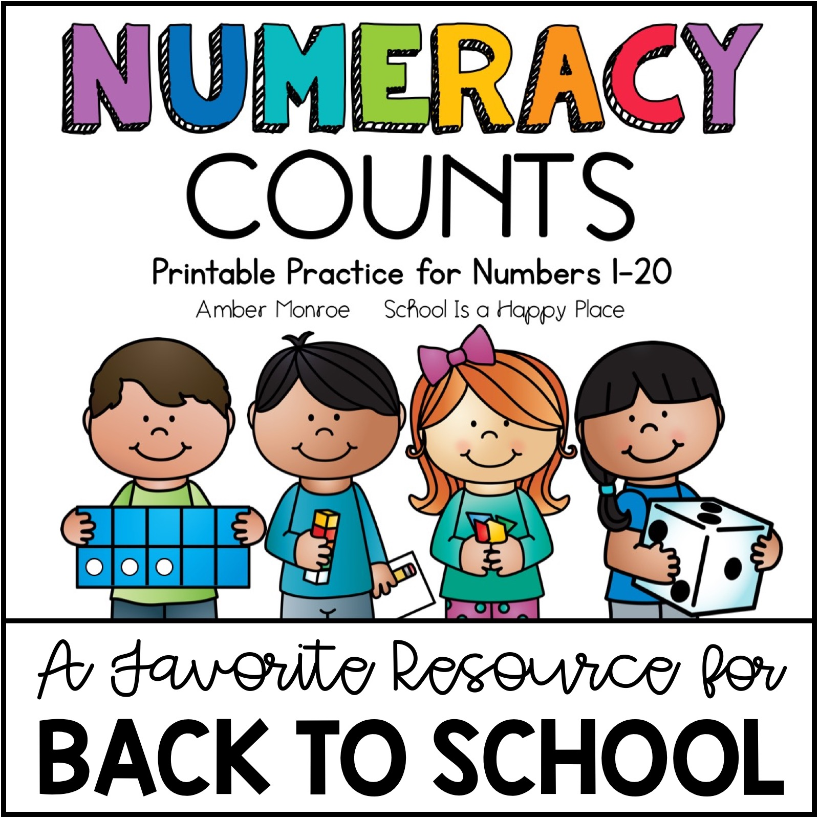 Printable Practice for Numbers 1-20