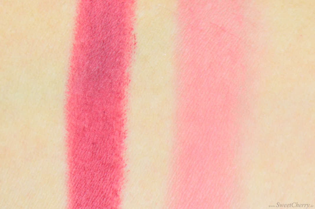 Revlon Powder Blush Wine Not & Matte Balm Fiery Flamboyante Swatches