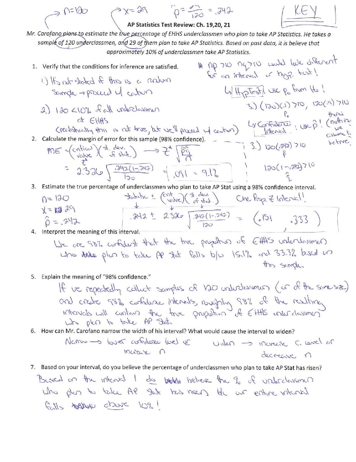 Ehhs Ap Stat Hw Study