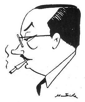 Caricatura del ajedrecista Dr. Josep Vallvé Piñol
