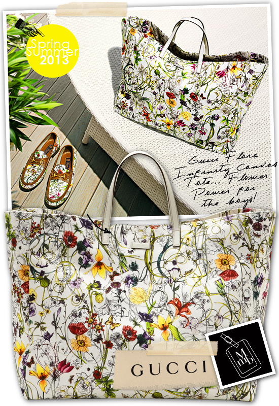0aa3d57ad920 ... feminine as Gucci's Infinity Flora print. Now I want the large canvas tote  bag which is going to be a useful and gorgeous holiday companion on any ...