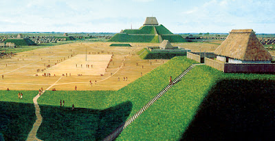 Artist's depiction of Cahokia pre-Columbian City