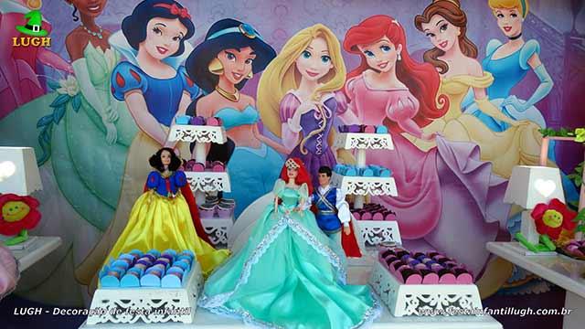 Decoração de festa infantil Princesas da Disney