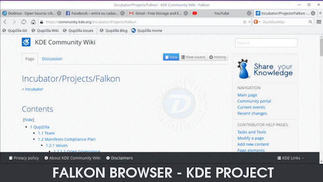 Falkon Browser KDE Project