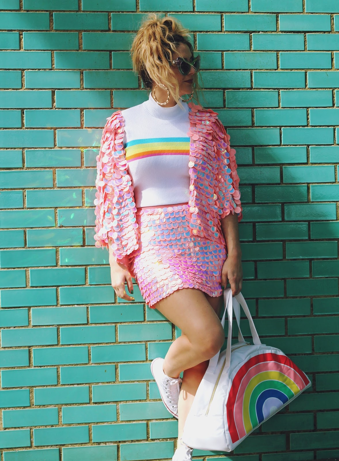 390172bd5d3 Feeling like a sassy mermaid in this beautiful ASOS iridescent sequin two  piece  3 How perfect is it for festivals ! I m off to a load of festis this  year ...