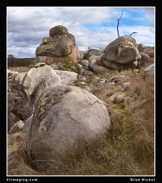 Basalt rocks and boulders near Pejar Creek NSW crop 1
