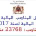لائحة المناصب المالية في قانون المالية لسنة 2017  حسب الوزارات، المنشور بالجريدة الرسمية عدد 6577 ليوم 12 يونيو 2017