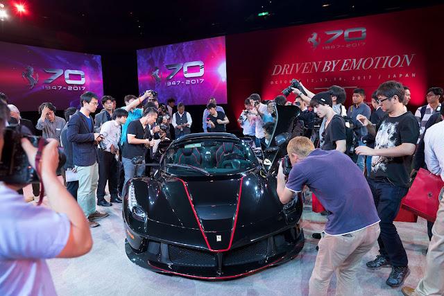 フェラーリ70周年記念イベントが日本で開催!「ラ フェラーリ・アペルタ」や貴重な歴代モデルが両国国技館で披露。