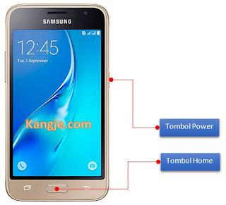 Cara Screenshot Samsung J1 2016 Tanpa Aplikasi Tambahan