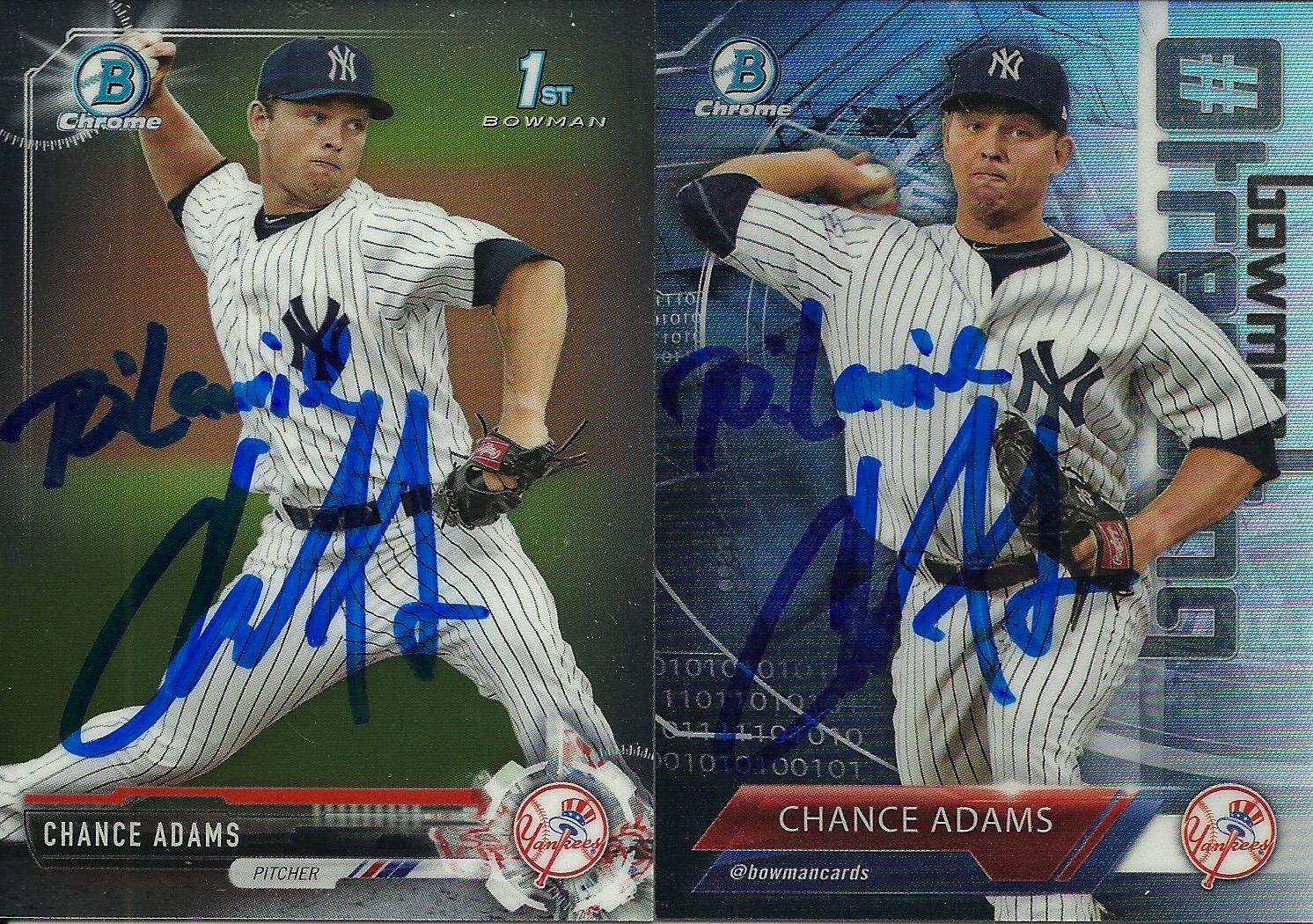 Lvs Ttm Autographs And Baseball Cards Chance Adams