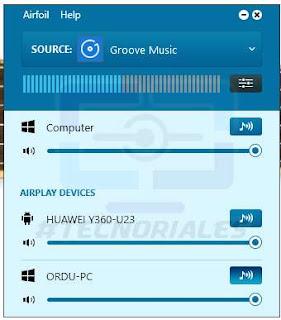 airfoil enviando audio