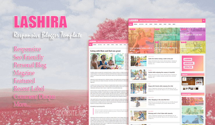Lahira Responsive Blogger Template