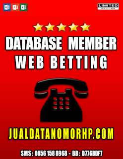 Jual Database Member Web Betting Seindonesia