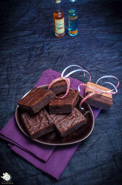 Brownies mit Auberginen im Teig