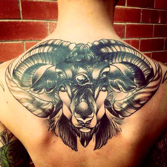 Aries tattoos for men's back