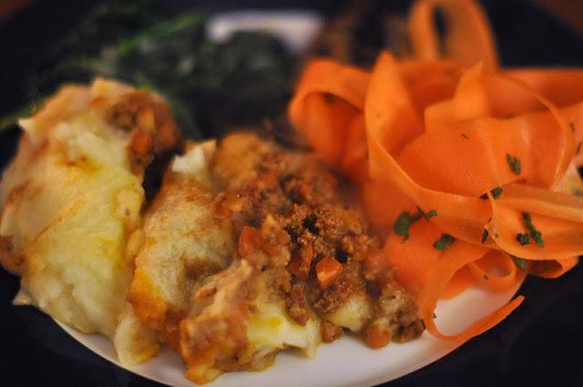 hachis parmentier à l'agneau et aux légumes, recette du pays de Galles
