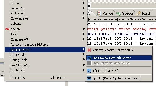 How to do this?: Configuring Derby over Eclipse