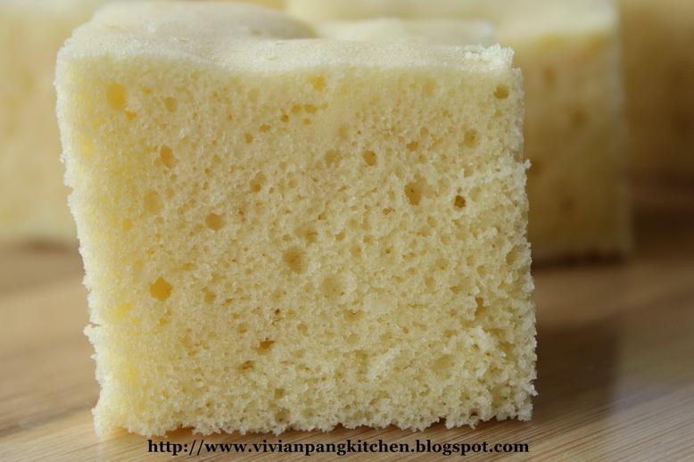 Steamed White Sugar Sponge Cake