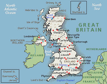 Great Britain Maps Detailed